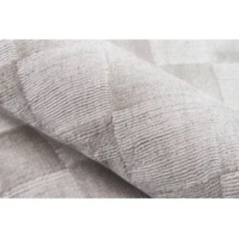 Wayfair Cream Checkered Silk Rug - image-3