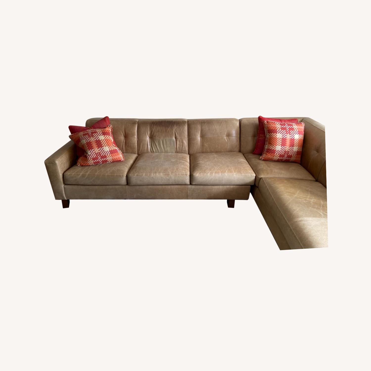 Leather Sectional - image-0