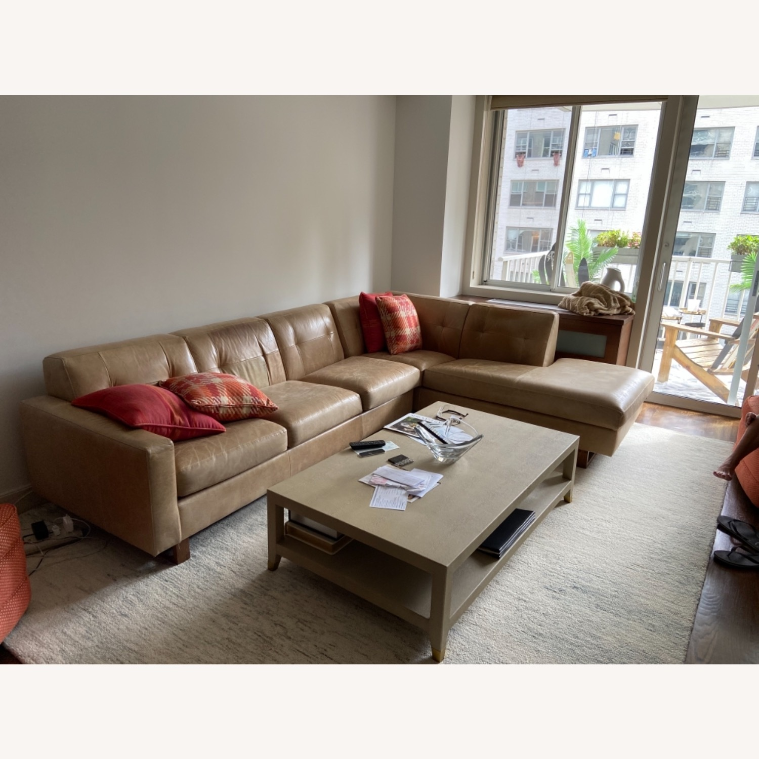 Leather Sectional - image-2