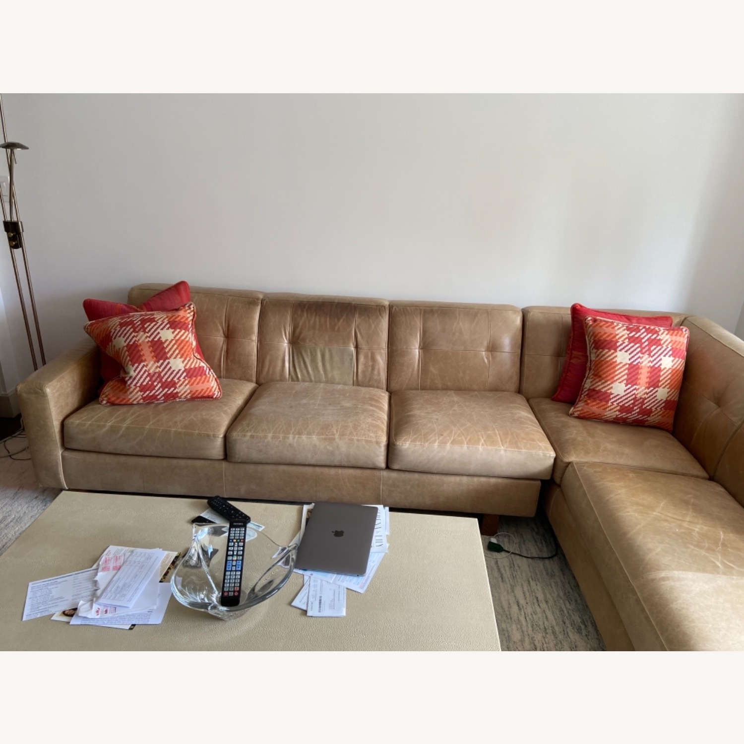 Leather Sectional - image-4