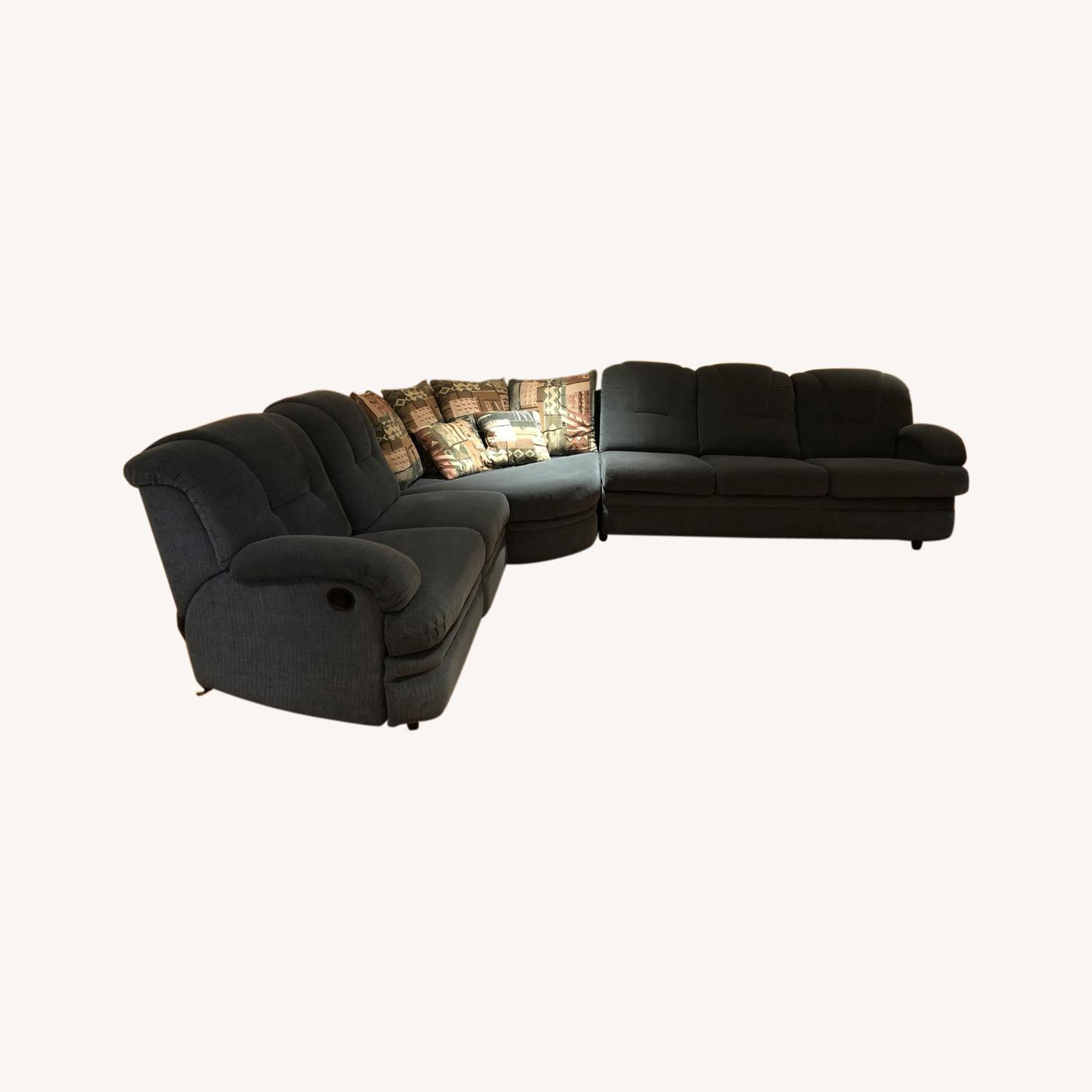 Stratford Sectional Sofa Recliner and Pullout Bed - image-0