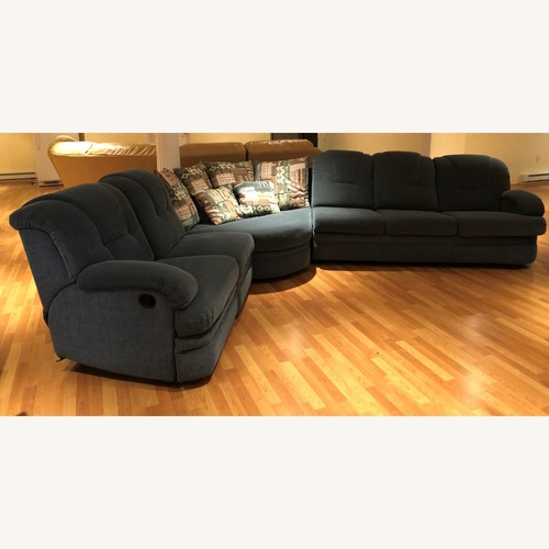 Used Stratford Sectional Sofa Recliner and Pullout Bed for sale on AptDeco