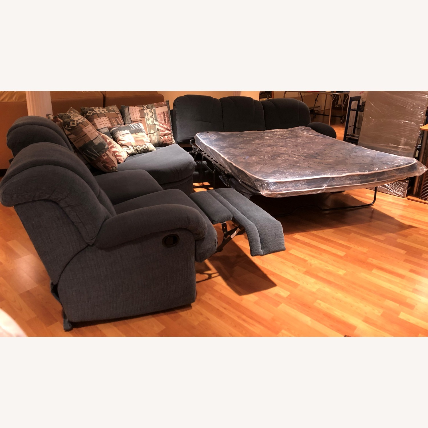 Stratford Sectional Sofa Recliner and Pullout Bed - image-2