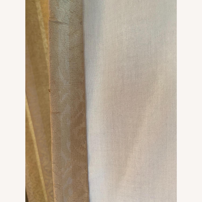Vintage Custom Brown Drapes and Valance - image-6
