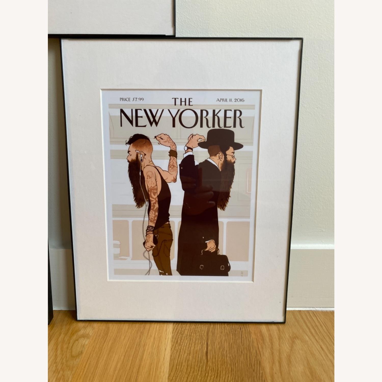 Art Deco Framed New Yorker Prints - image-3