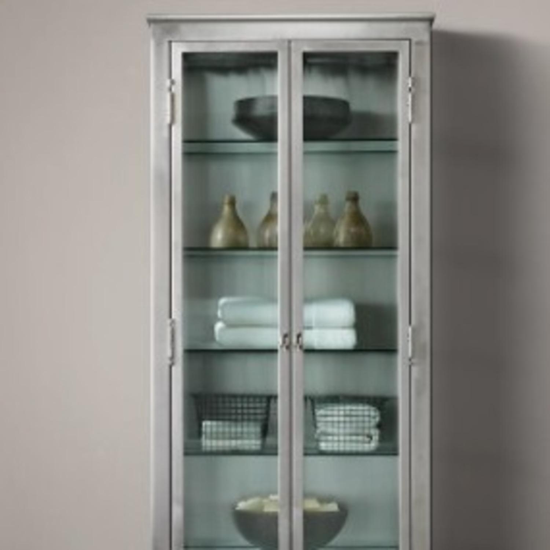 Restoration Hardware1930s Lab Stnlss Steel Cabinet - image-1