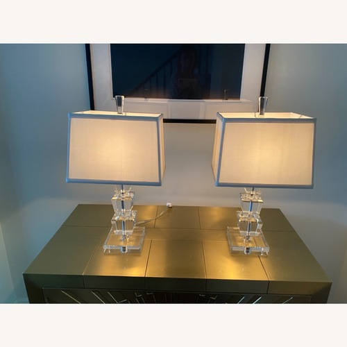Used Set of 2 Crystal Table Lamps for sale on AptDeco