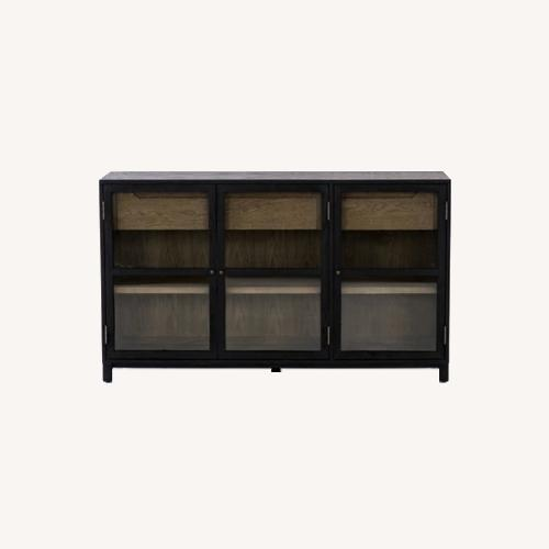 Used Burke Dcor Millie Sideboard in Drifted Black for sale on AptDeco