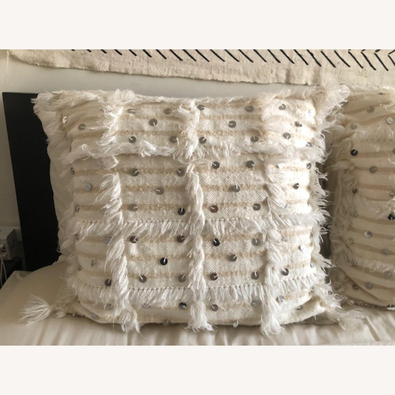 Authentic Cream Moroccan Decor Pillow - image-2