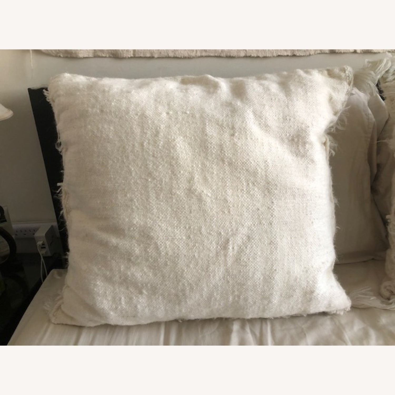 Authentic Cream Moroccan Decor Pillow - image-3