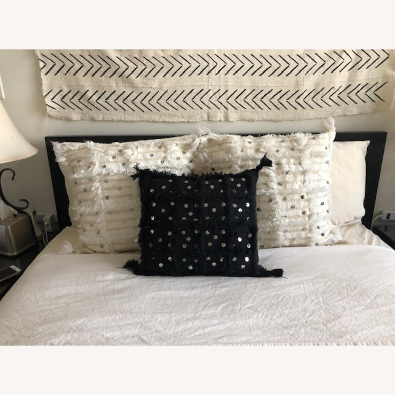 Authentic Black Moroccan Decor Pillow - image-4
