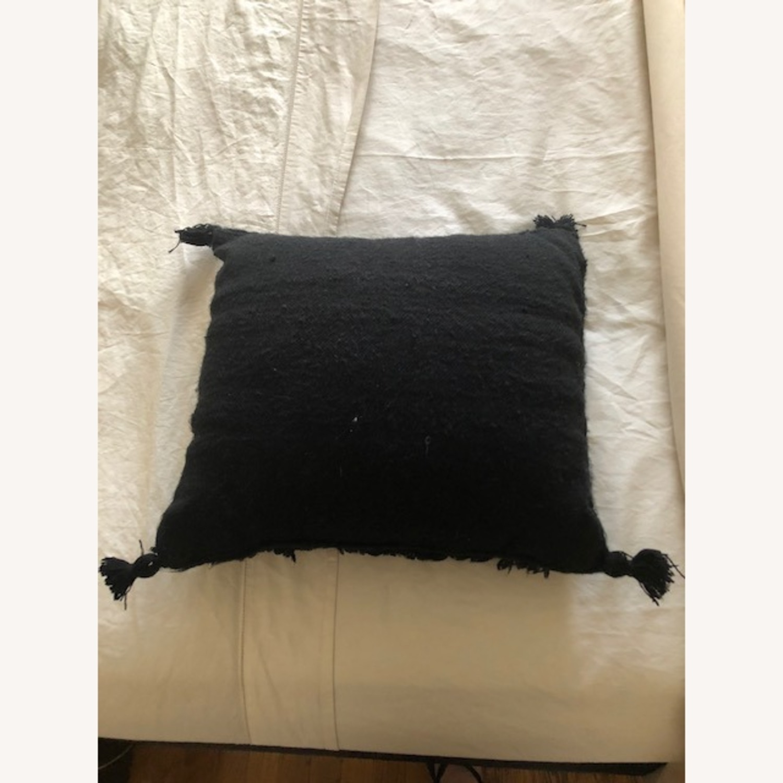 Authentic Black Moroccan Decor Pillow - image-2