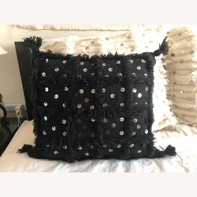 Authentic Black Moroccan Decor Pillow - image-1