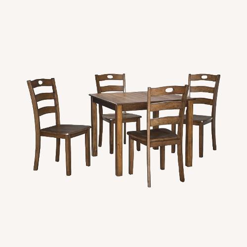 Used Ashley Furniture Medium Brown Dinning Set for sale on AptDeco