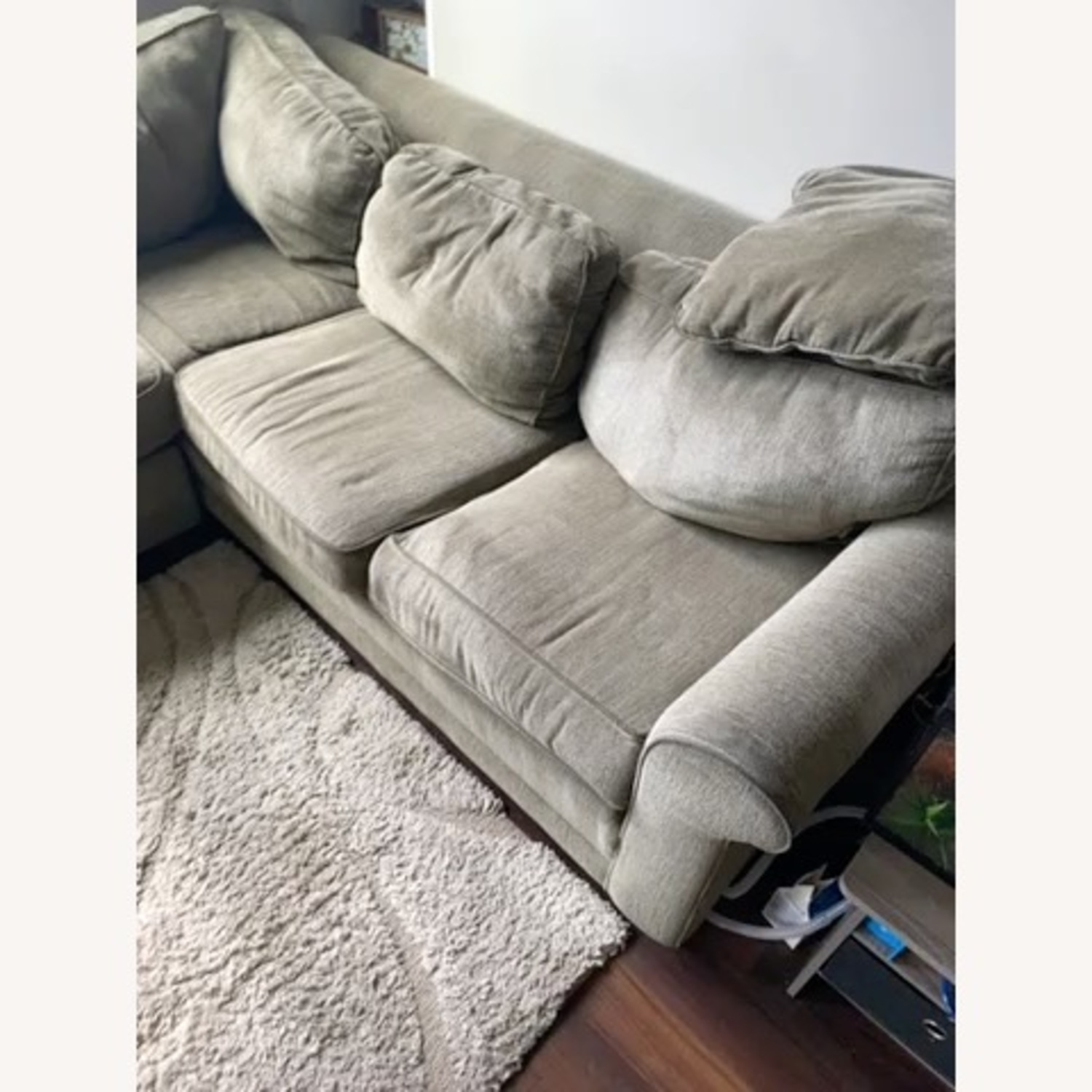 Olive Green 2 Piece Sectional Sleeper Sofa - image-4