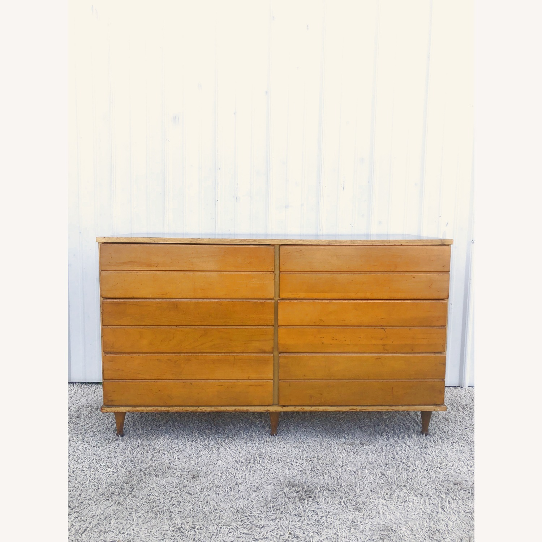 Mid Century Compact Six Drawer Dresser - image-1