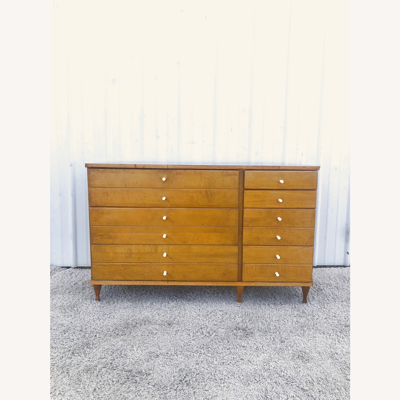 Mid Century Compact Six Drawer Dresser - image-2