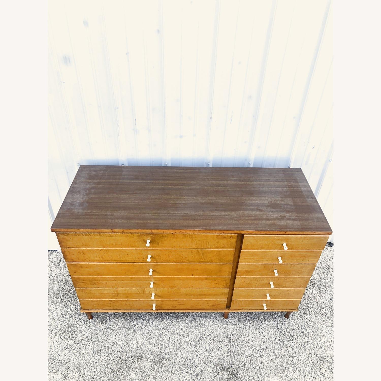 Mid Century Compact Six Drawer Dresser - image-6