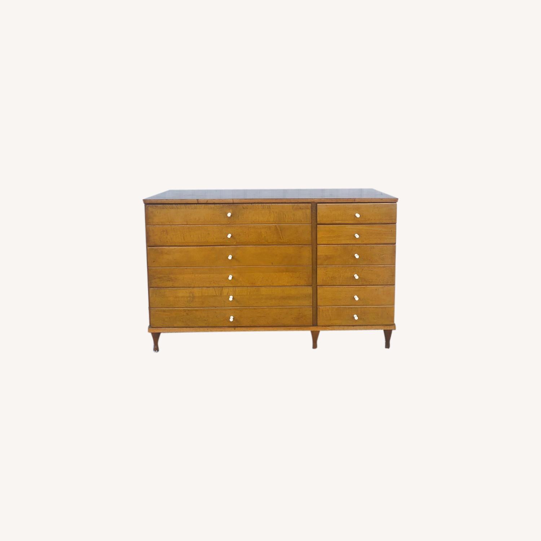 Mid Century Compact Six Drawer Dresser - image-0