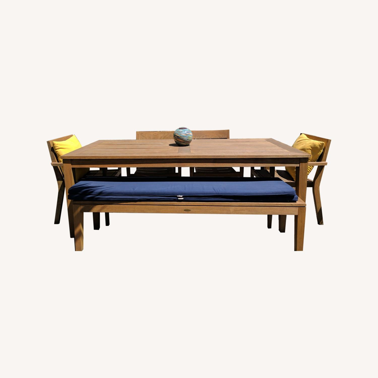 Crate & Barrel Regatta Dining Table Bench Cushions - image-0