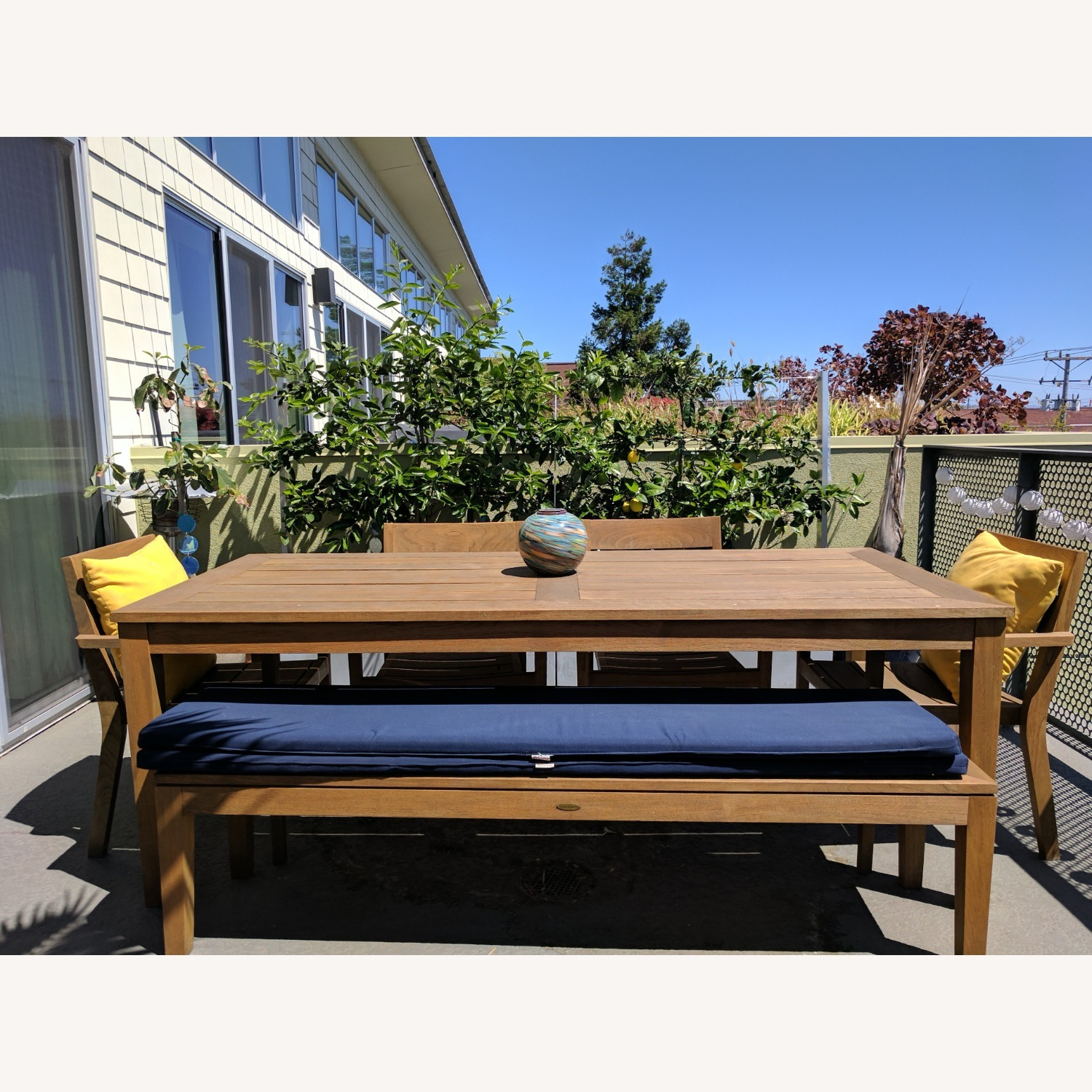 Crate & Barrel Regatta Dining Table Bench Cushions - image-2