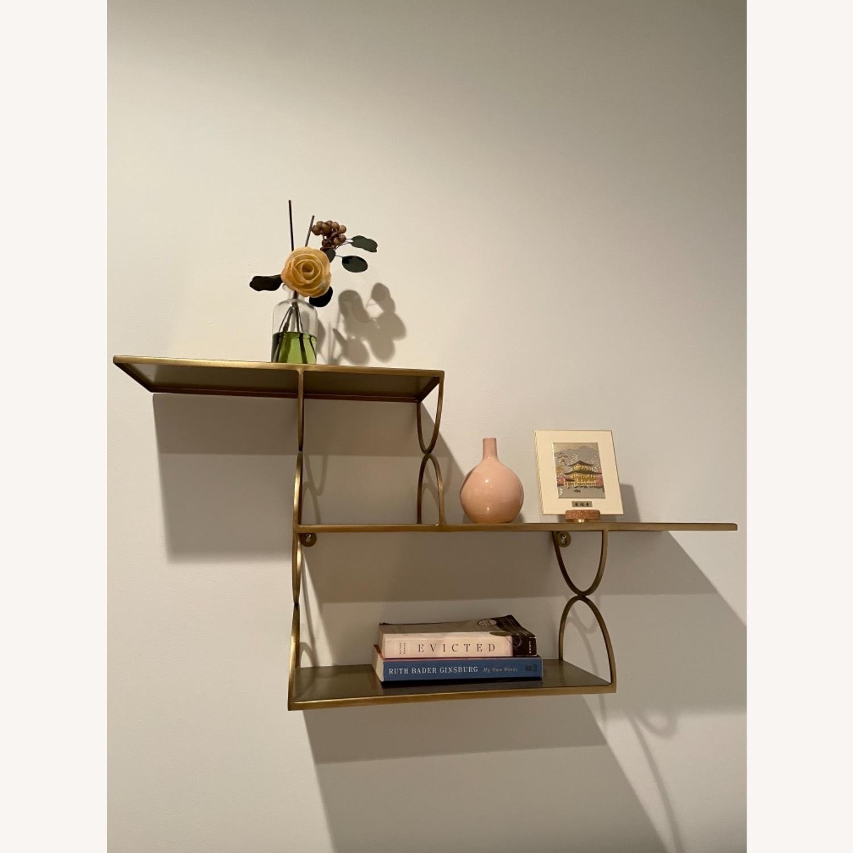 Anthropologie Tiered Metal Floating Shelf - image-4