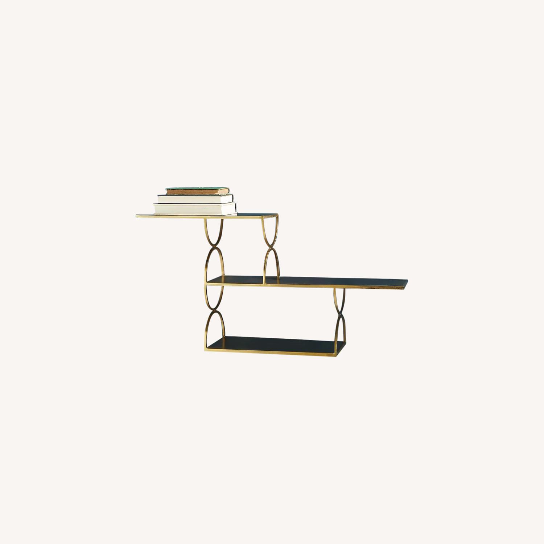 Anthropologie Tiered Metal Floating Shelf - image-0