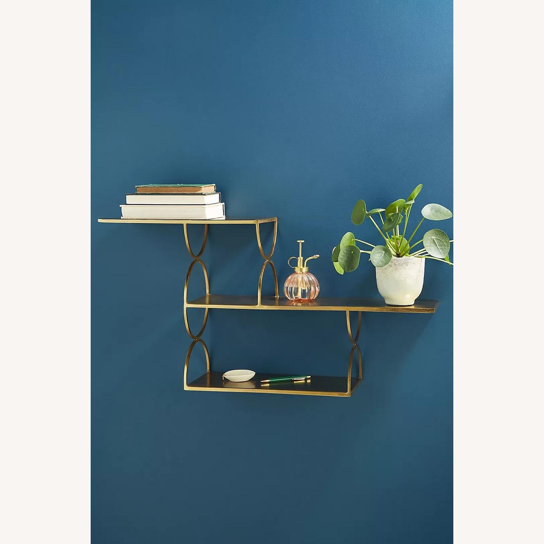 Anthropologie Tiered Metal Floating Shelf - image-1
