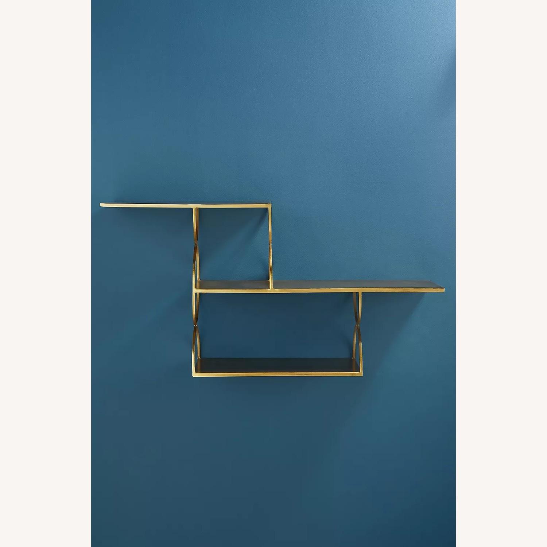 Anthropologie Tiered Metal Floating Shelf - image-2