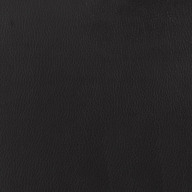Ottoman In Black Leatherette W/ Chrome Base Finish - image-3