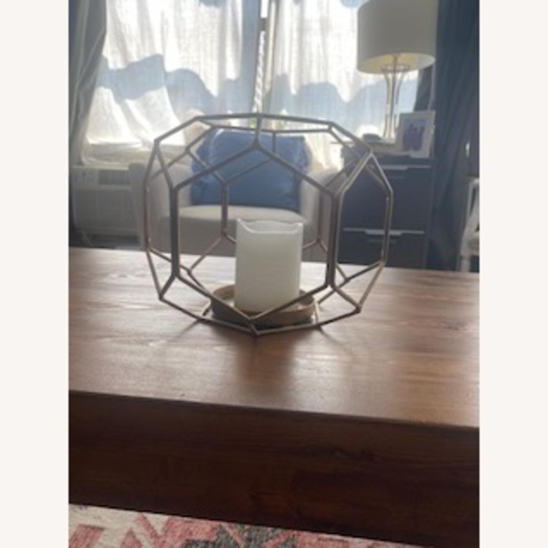 Metallic Geometric Candle Decor - image-0