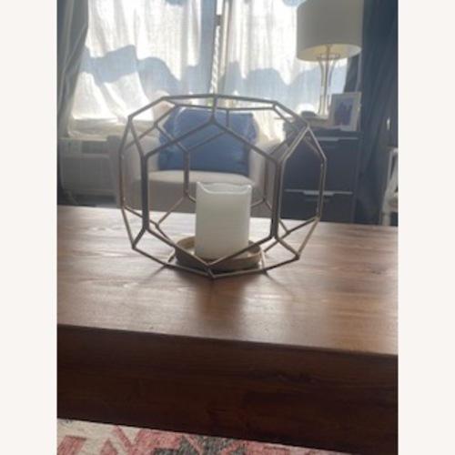 Used Metallic Geometric Candle Decor for sale on AptDeco