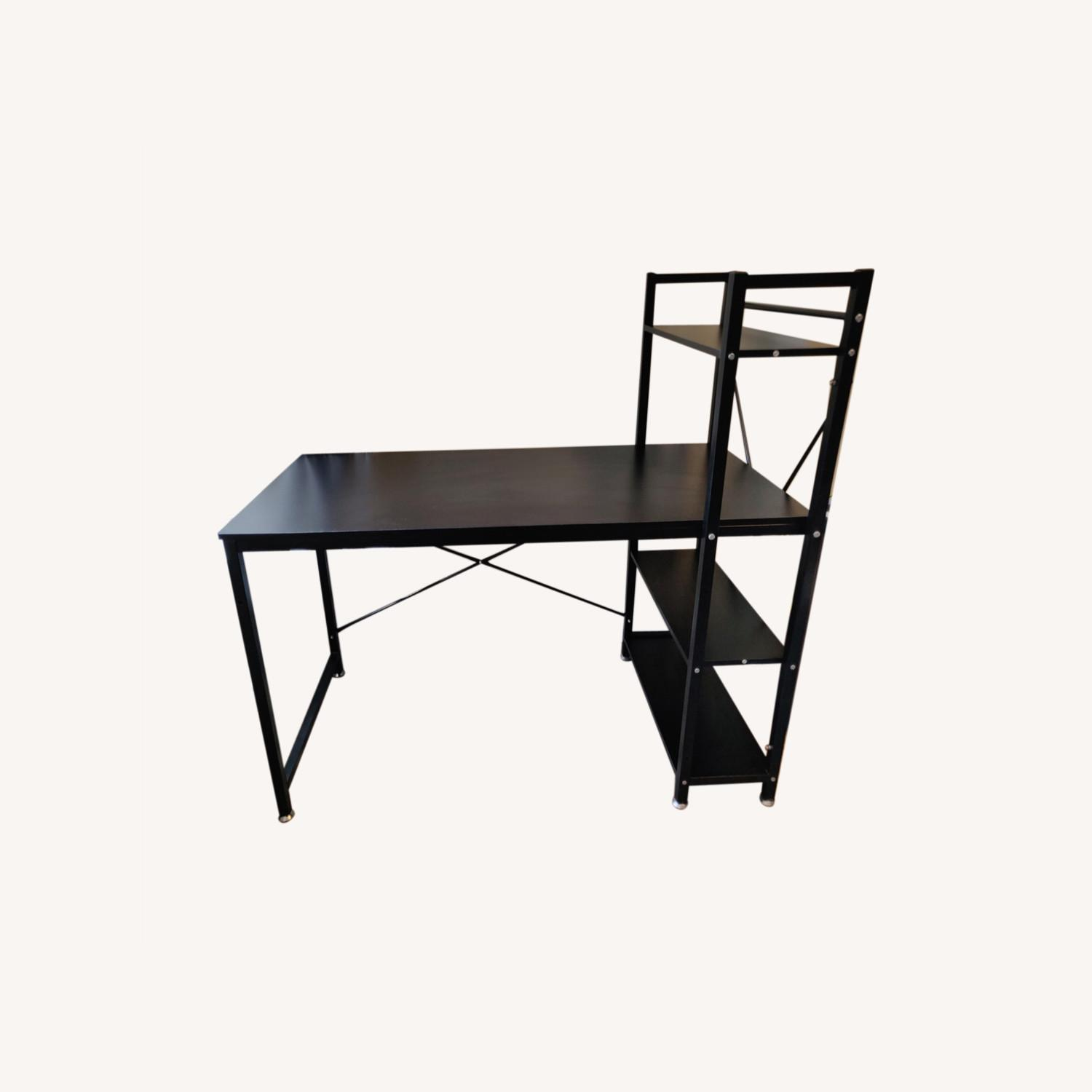 Industrial-style Desk with Shelves - image-0