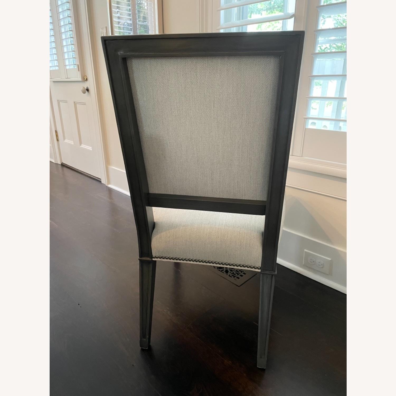 Lee Industries Grey Herringbone Dining Chairs - image-2
