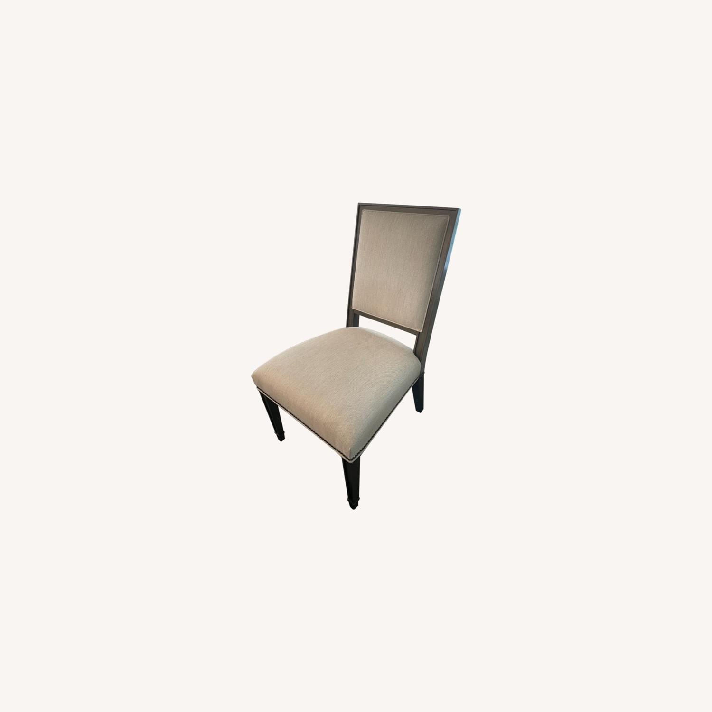 Lee Industries Grey Herringbone Dining Chairs - image-0