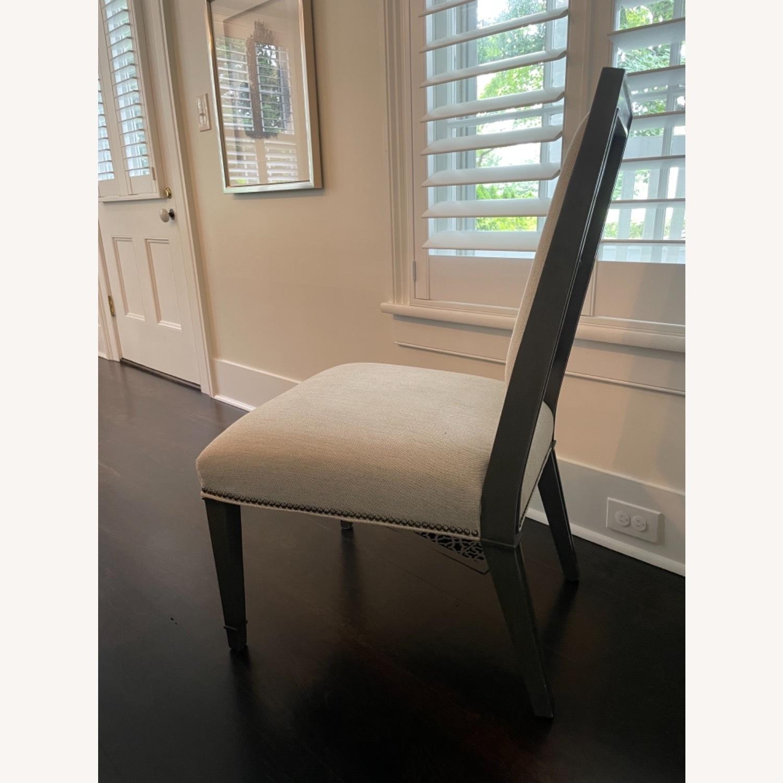 Lee Industries Grey Herringbone Dining Chairs - image-3