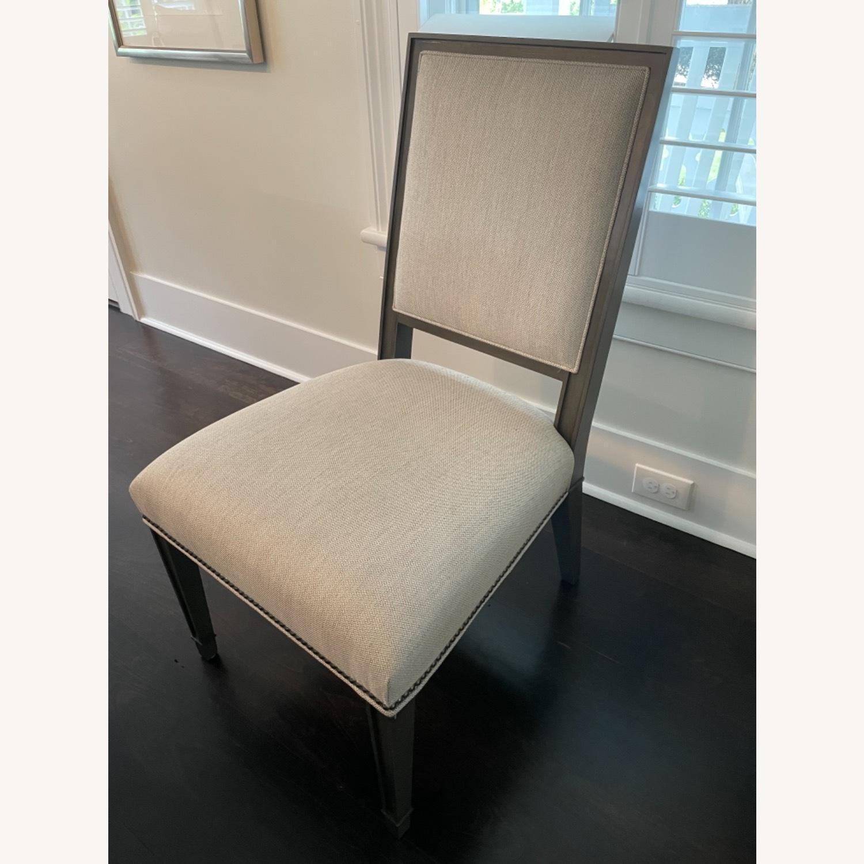 Lee Industries Grey Herringbone Dining Chairs - image-1