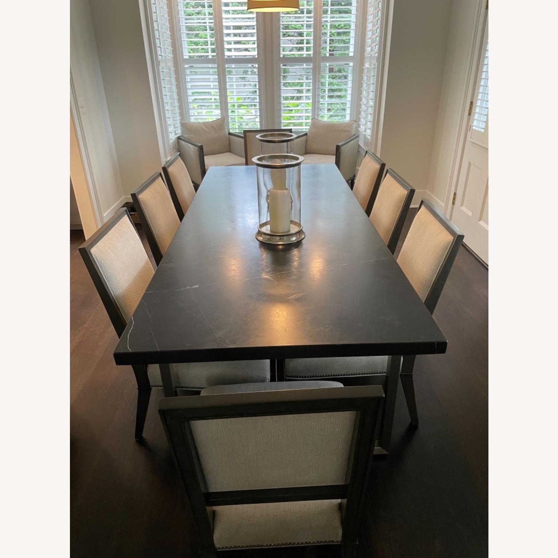 Lee Industries Grey Herringbone Dining Chairs - image-4