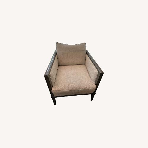 Used Grey Herringbone Armchairs and Ottomans for sale on AptDeco