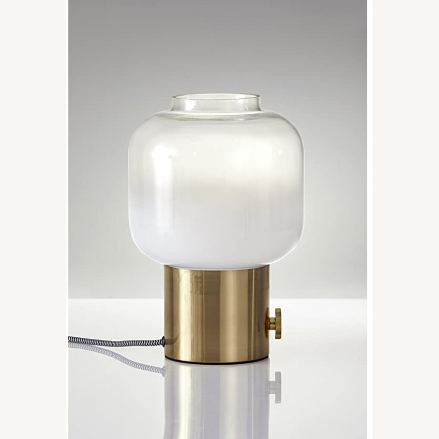 Adesso Lewis Accent Table Lamp - Antique Brass - image-3