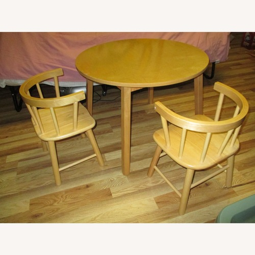 Used Whitney Bros Toddler Table and Two Chair Set for sale on AptDeco