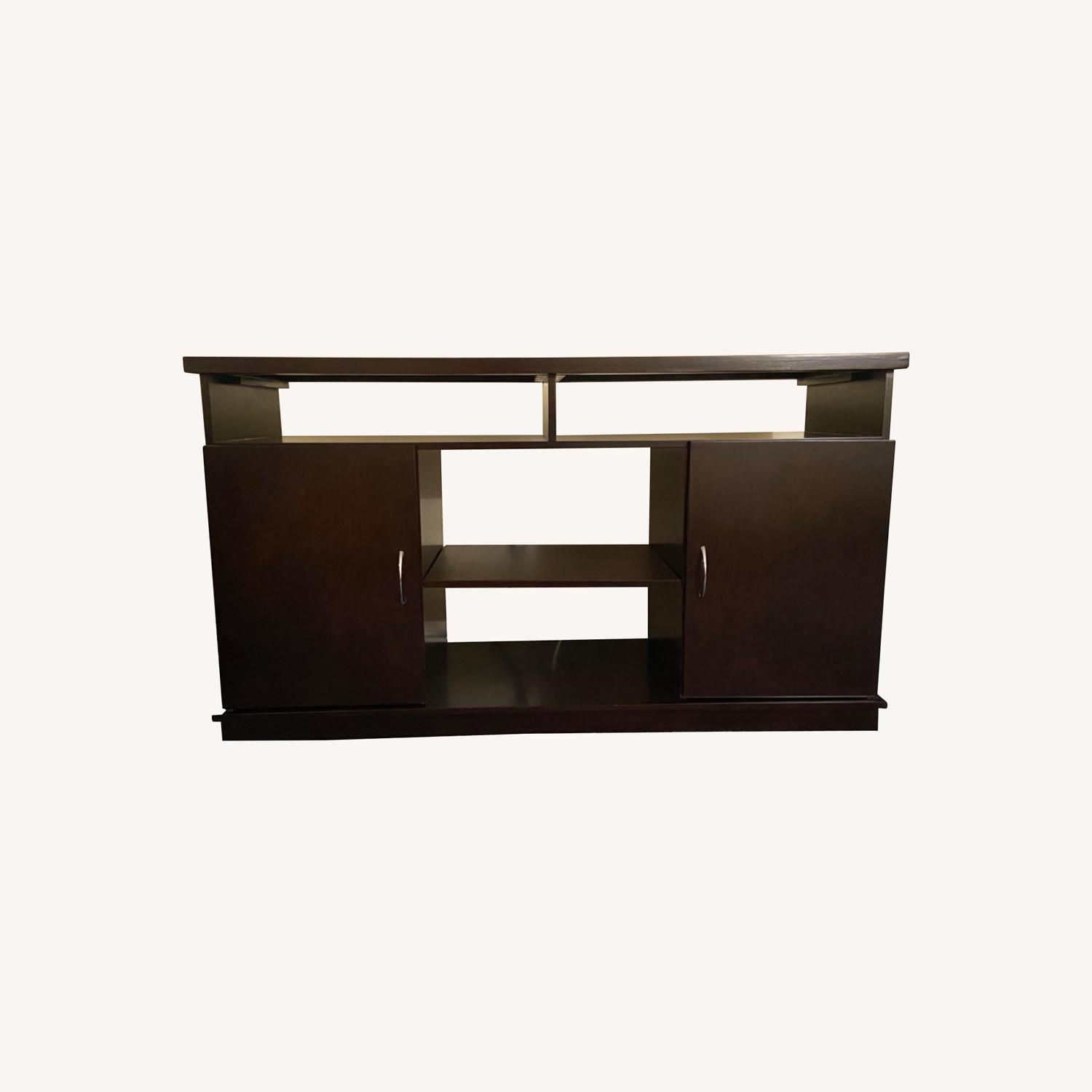 Gothic Cabinet Craft TV Stand w/ 2 Doors - image-0