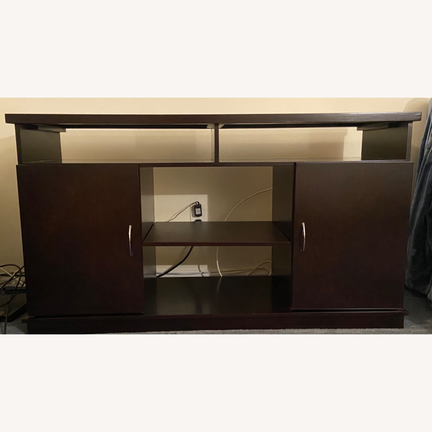 Gothic Cabinet Craft TV Stand w/ 2 Doors - image-1