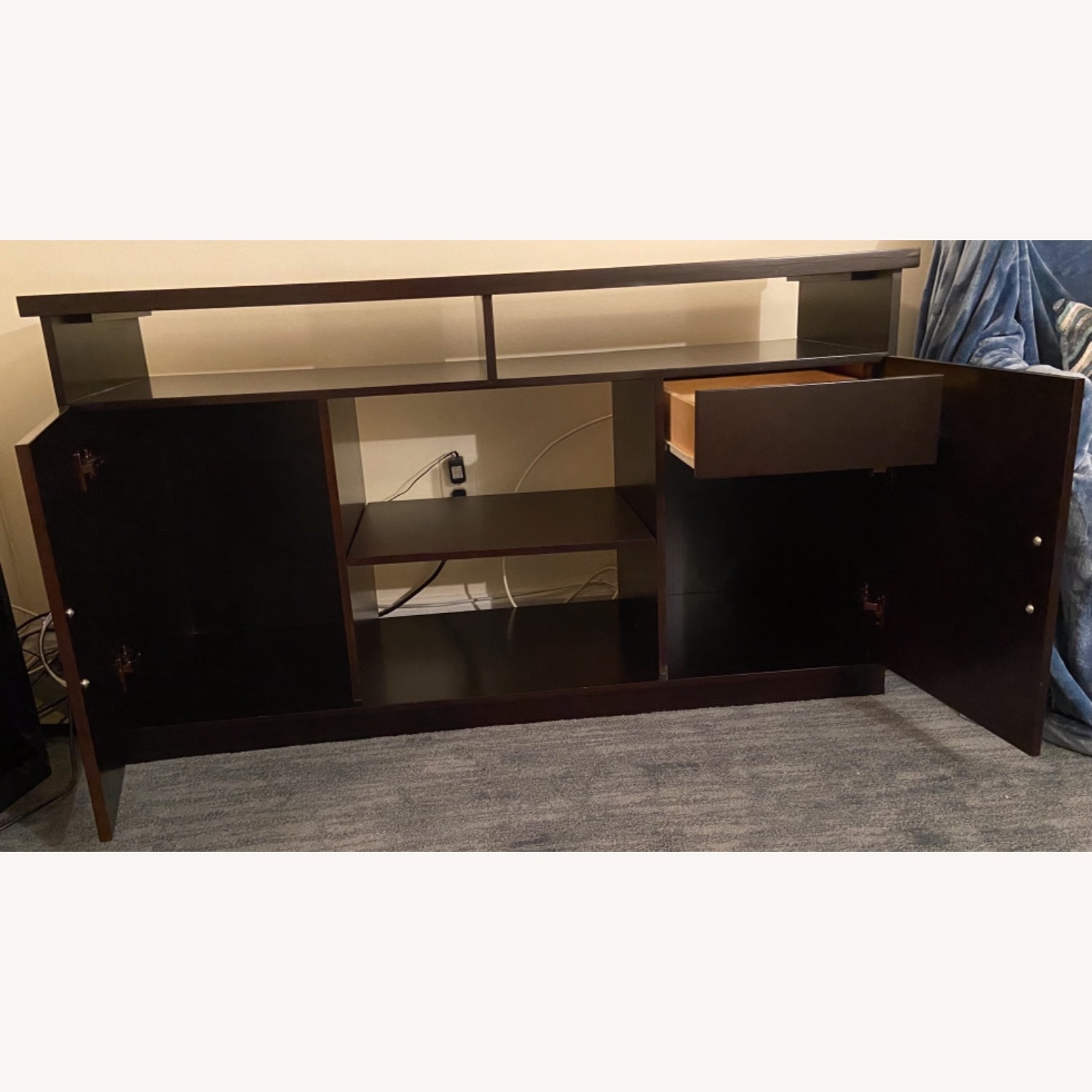 Gothic Cabinet Craft TV Stand w/ 2 Doors - image-2