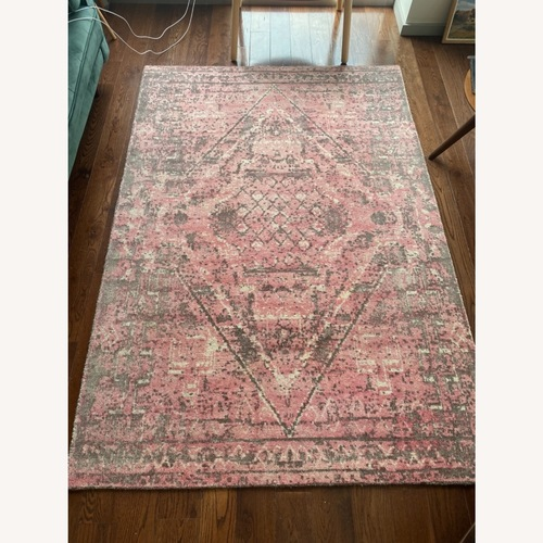 Used Bungalow 5 Pink and Gray Area Rug for sale on AptDeco