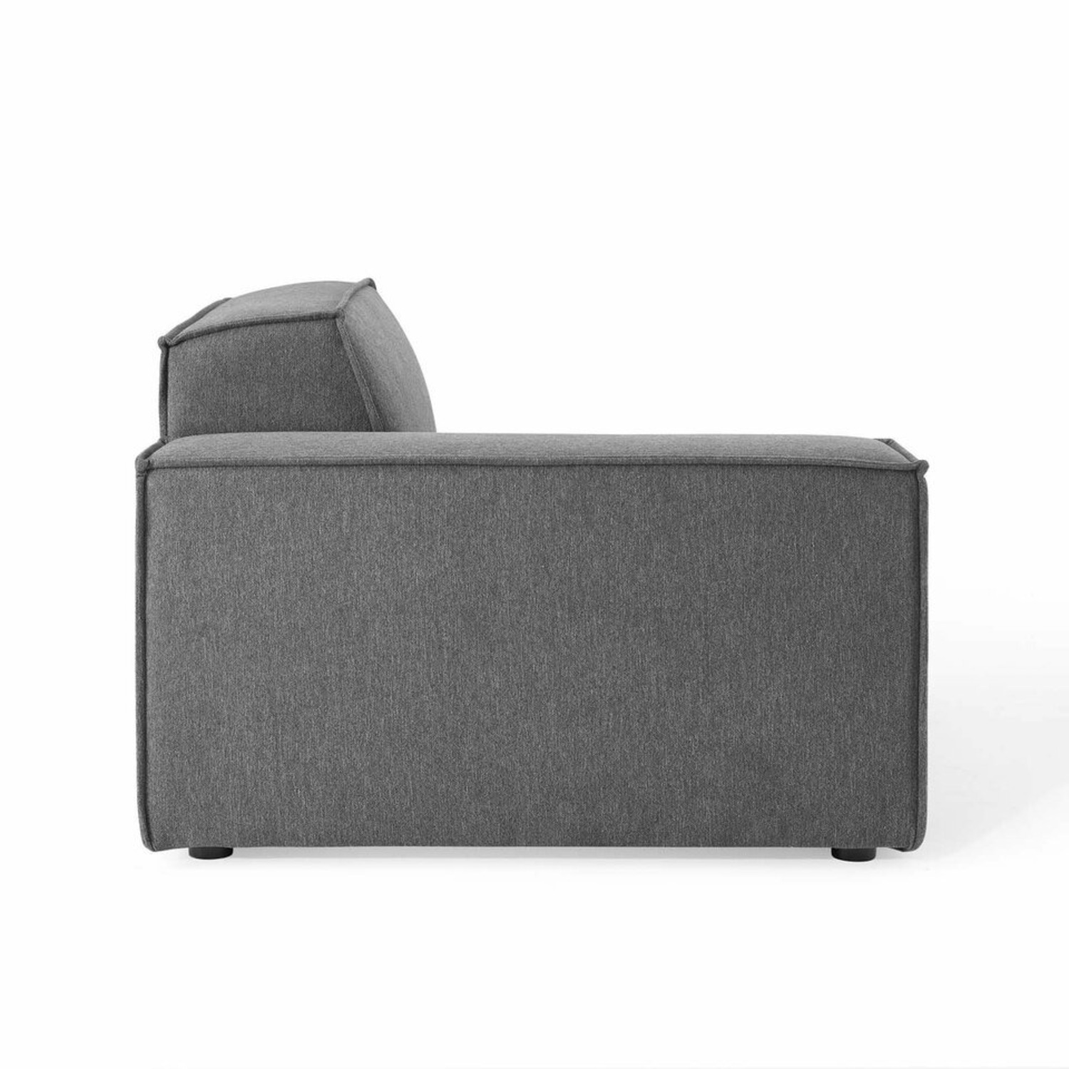 5-Piece Sectional Sofa In CharcoalW/ Piping Detail - image-5