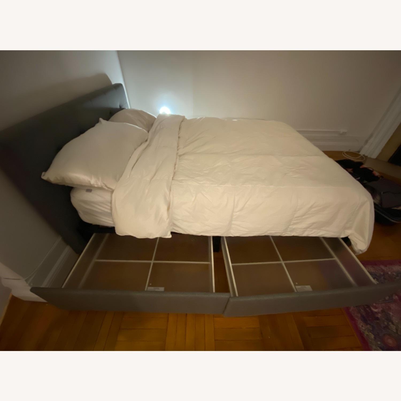 Wayfair Queen Bed Frame, Headboard and Storage - image-3
