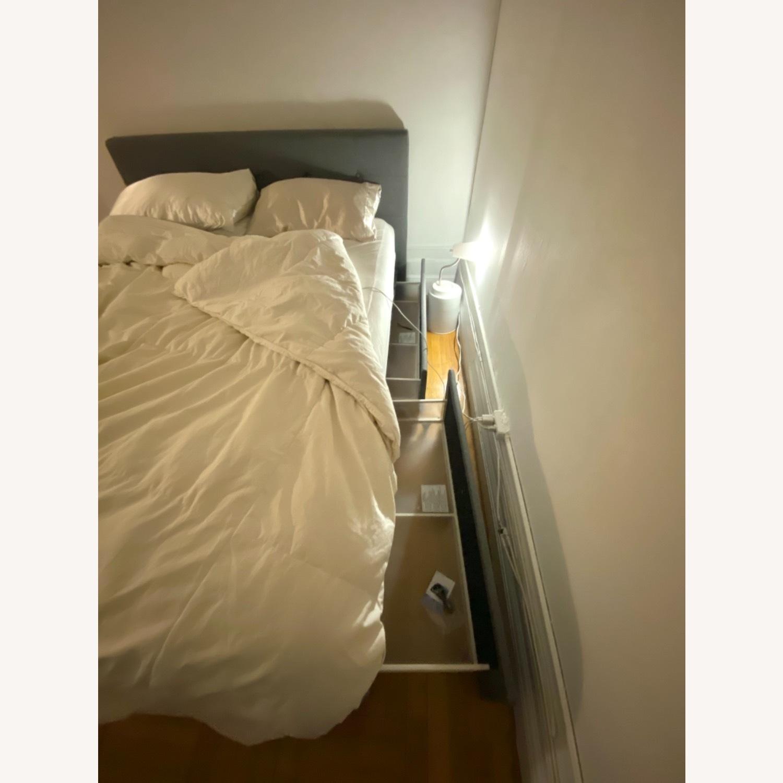 Wayfair Queen Bed Frame, Headboard and Storage - image-1