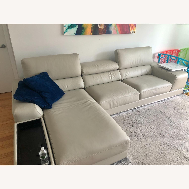 Modani Leather Sectional Sofa - image-5