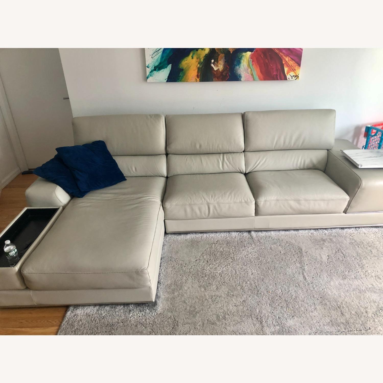Modani Leather Sectional Sofa - image-1